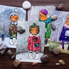 Картинки по запросу акварельные открытки ручной работы