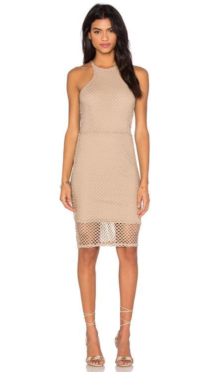 Bobi Prima Cotton Sleeveless High Neck Mini Dress in Crew | REVOLVE