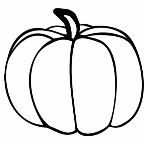 8 best images of pumpkin cutouts printable pumpkin cut out rh pinterest com Pumpkin Silhouette Clip Art pumpkin outline clip art black and white