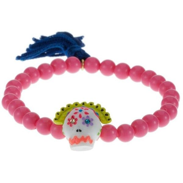 N2 CALAVERAS Bracelet ($42) ❤ liked on Polyvore featuring jewelry, bracelets, accessories, pink, pink bracelet, pink jewelry, bracelet jewelry, pink bangles e bracelet bangle