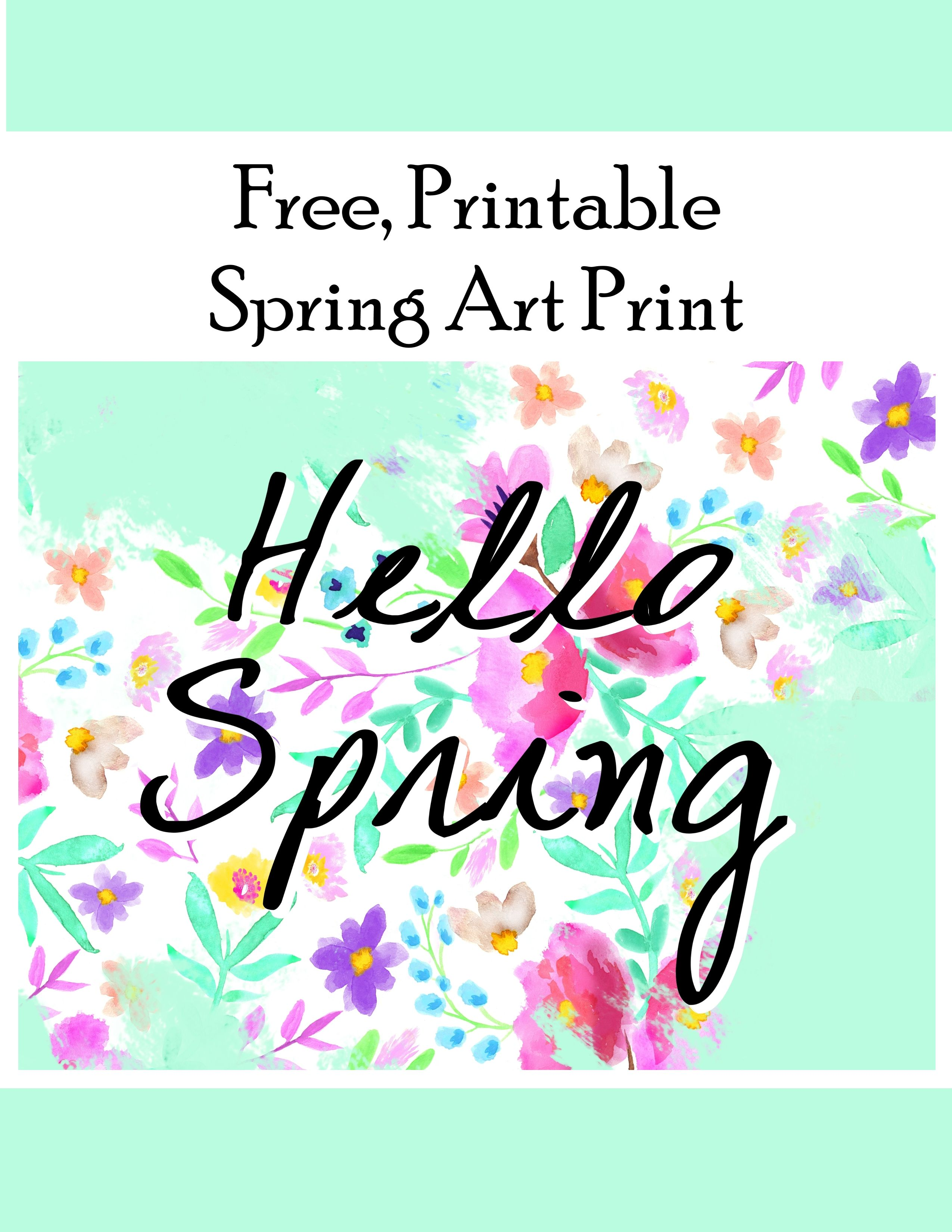 Hello Spring Flower Printable Hello Spring Spring Flowers And