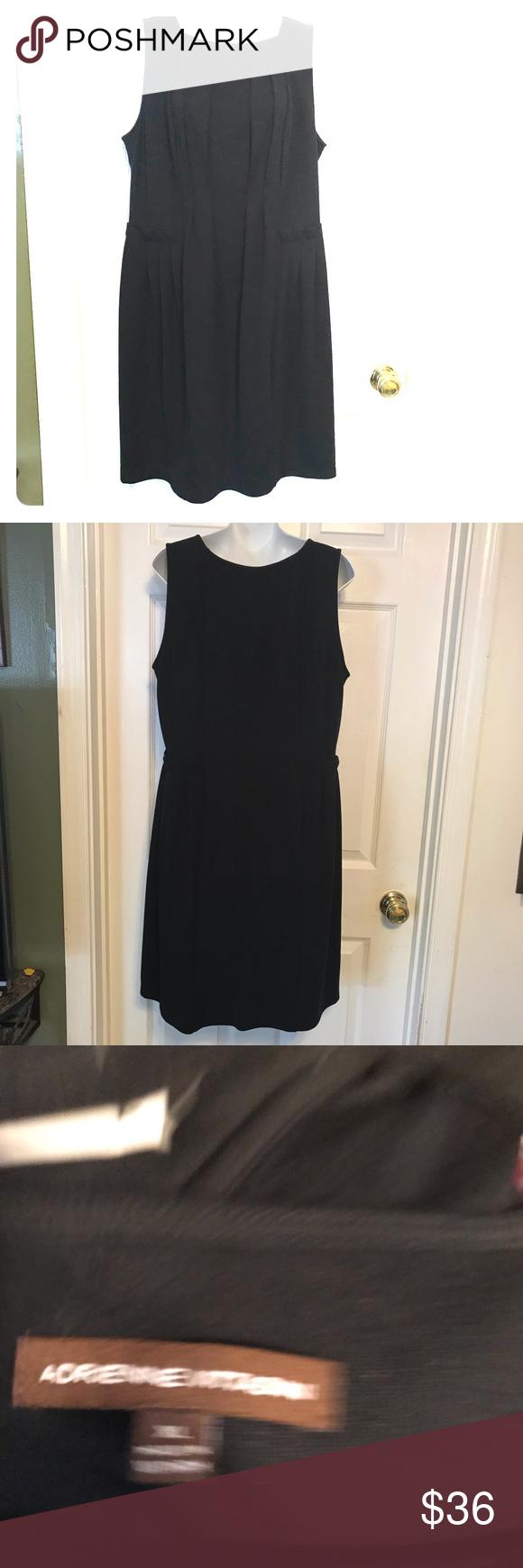 Adrienne Vittadini Black Dress In 2021 Dress Size Chart Women White Knee Length Dress Black Knit Dress [ 1740 x 580 Pixel ]