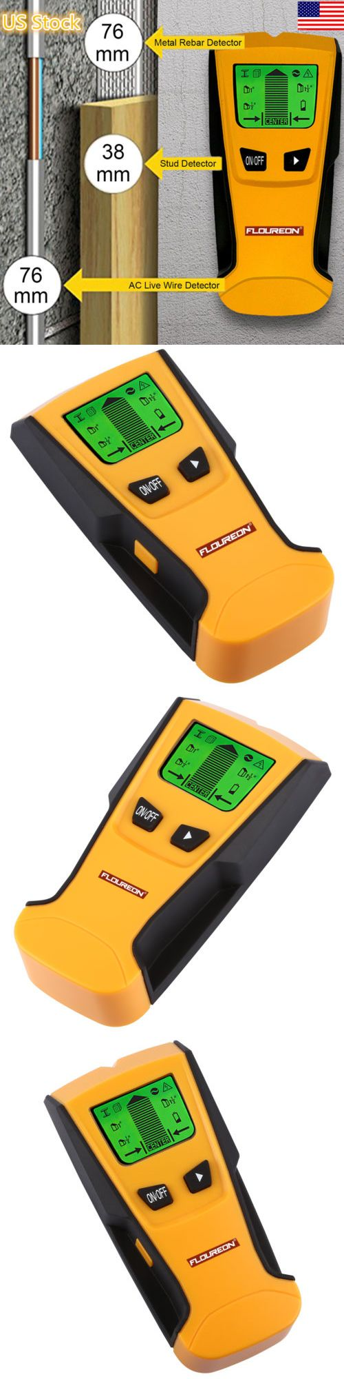 LCD Wall Detector Metal Wood Stud Finder AC Cable Live Wire Scanner Battery S6F9