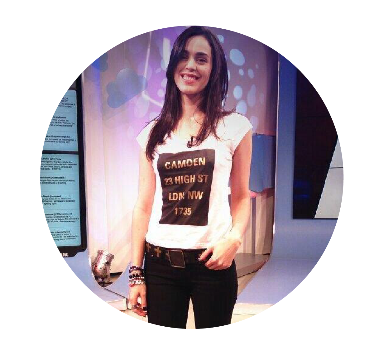† SHE´S GOT THE LOOK † Priscila Crivocapich con Remera New Look en ESPN Redes  #miacruz #clothing #outfit