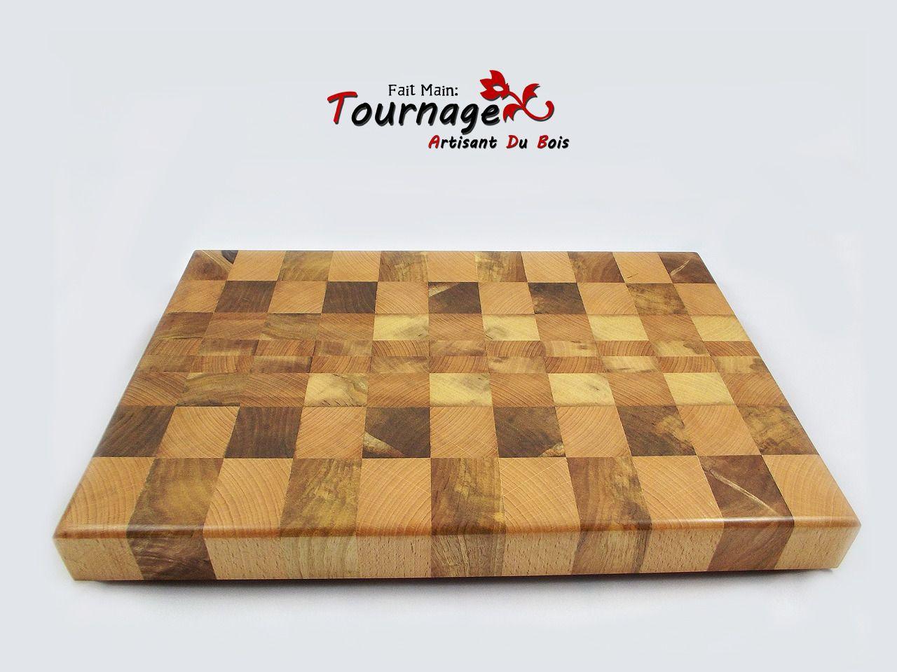 Planche d couper bois debout fait main cuisine et for Planche en bois de cuisine