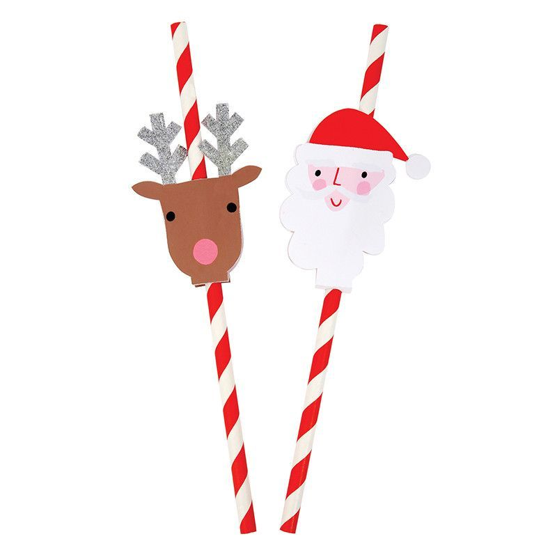 PACK 2 SANTA  EMBELLISHMENT TOPPERS FOR CARDS AND CRAFTS
