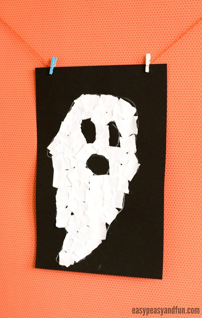 Halloween Torn Paper Art Ideas Mosaic Collage Art With Images