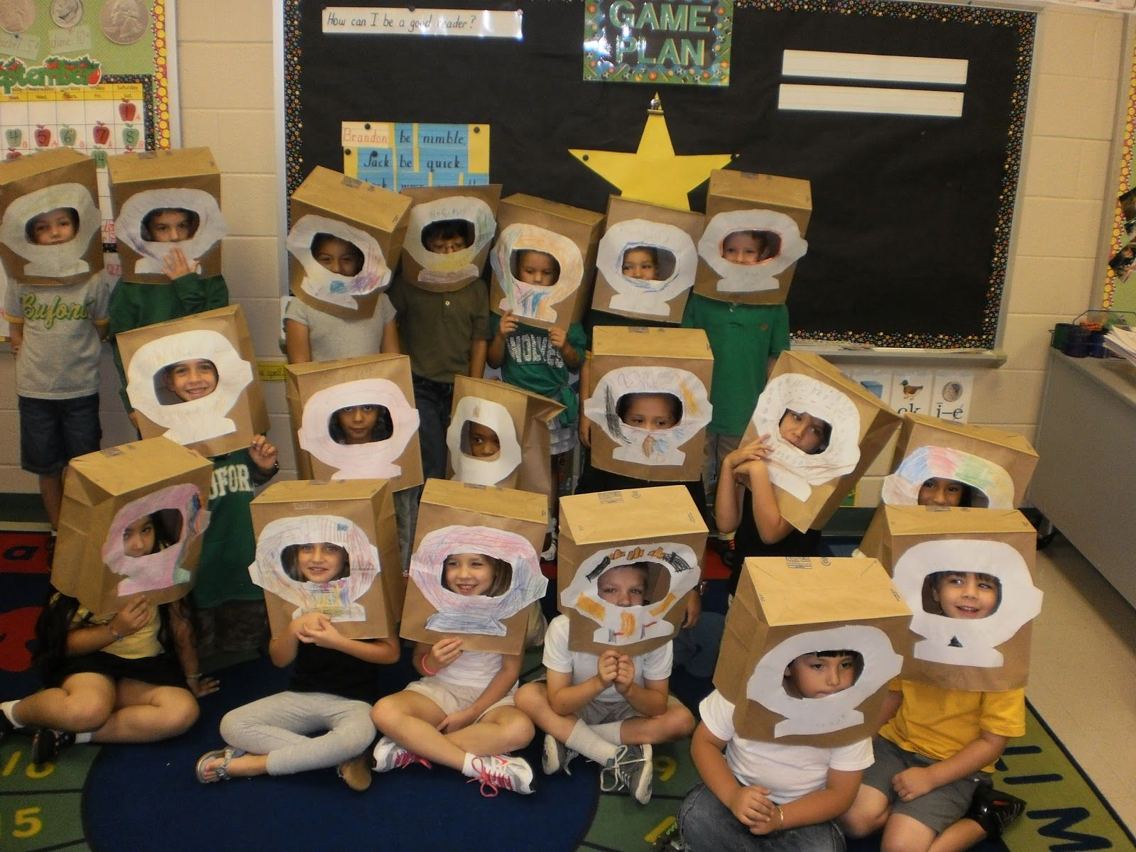 Astronaut Helmets, November Space Theme For Work