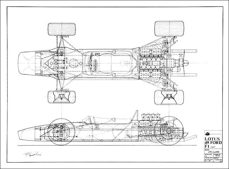 1929-1969 F1 Prints & Paintings | LOTUS TYPE 49 | Pinterest