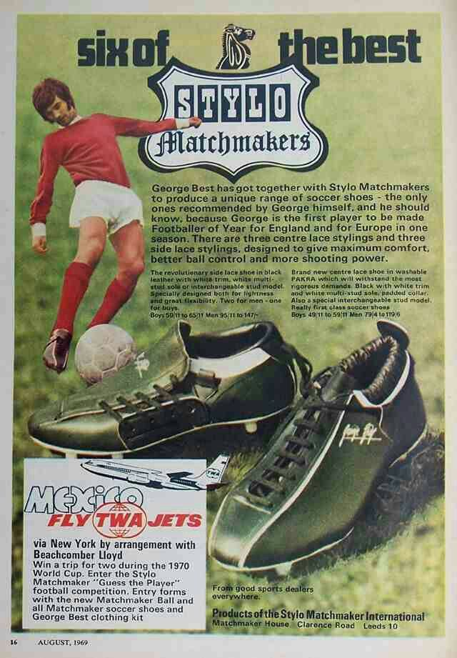 George Best and Stylo football boots