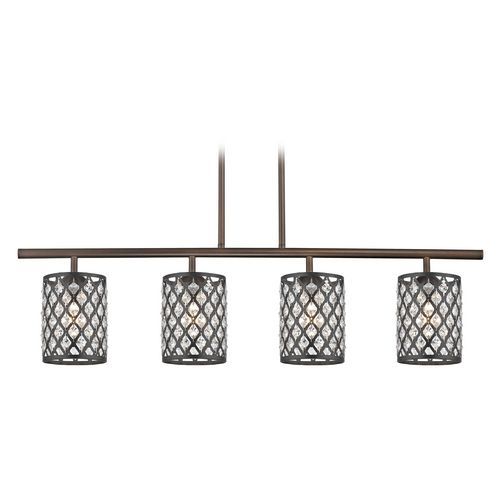 Design Classics Lighting Crystal Neuvelle Bronze & Phoenix Island Light | 718-220 GL1046-148 | Destination Lighting