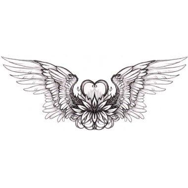 Heart With Wings Tattoo Aile D Ange Tatouage Tatouage Coeur