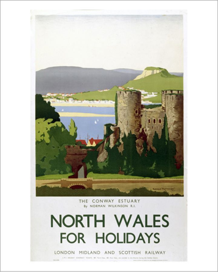 North Wales - Conway Estuary Art Print by National Railway Museum | King & McGaw #northwales
