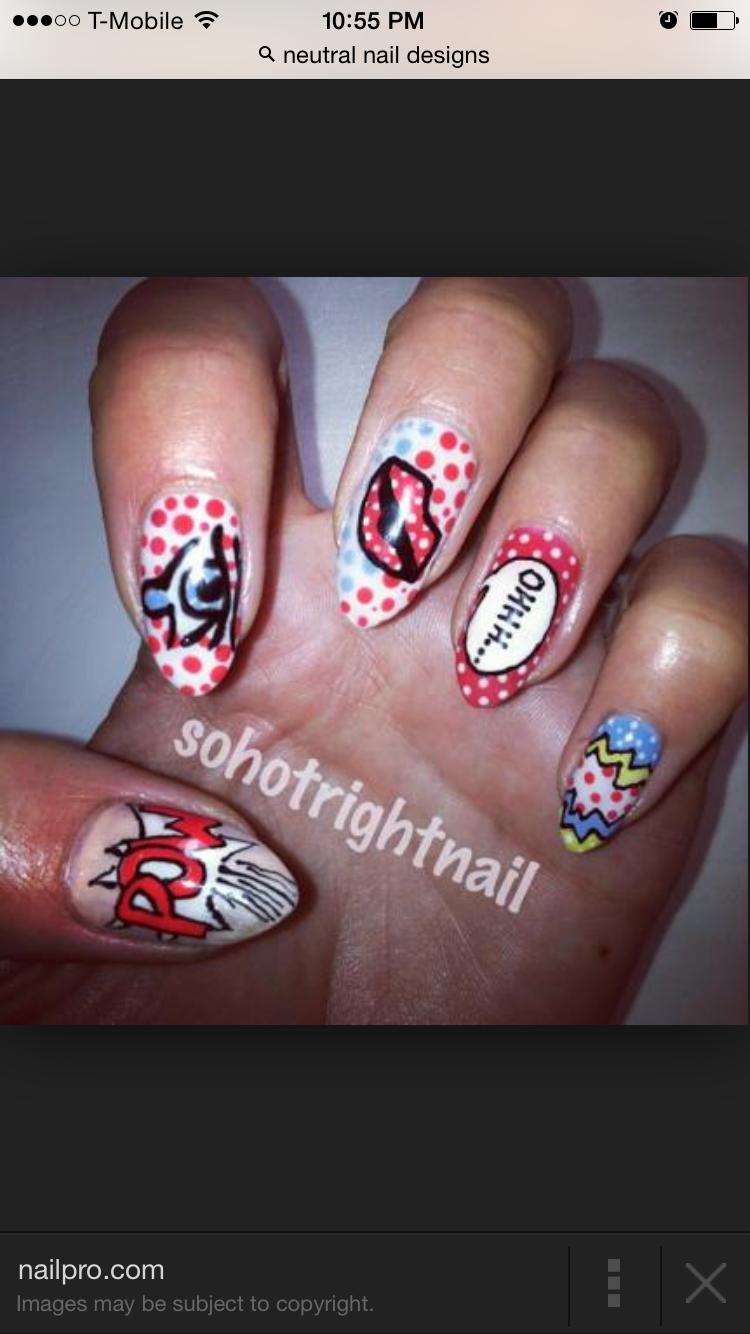 Fashion week Kitsch art nail or cute for girls