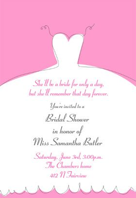 Bridal Shower Invitation Templates Print Or Order Printed