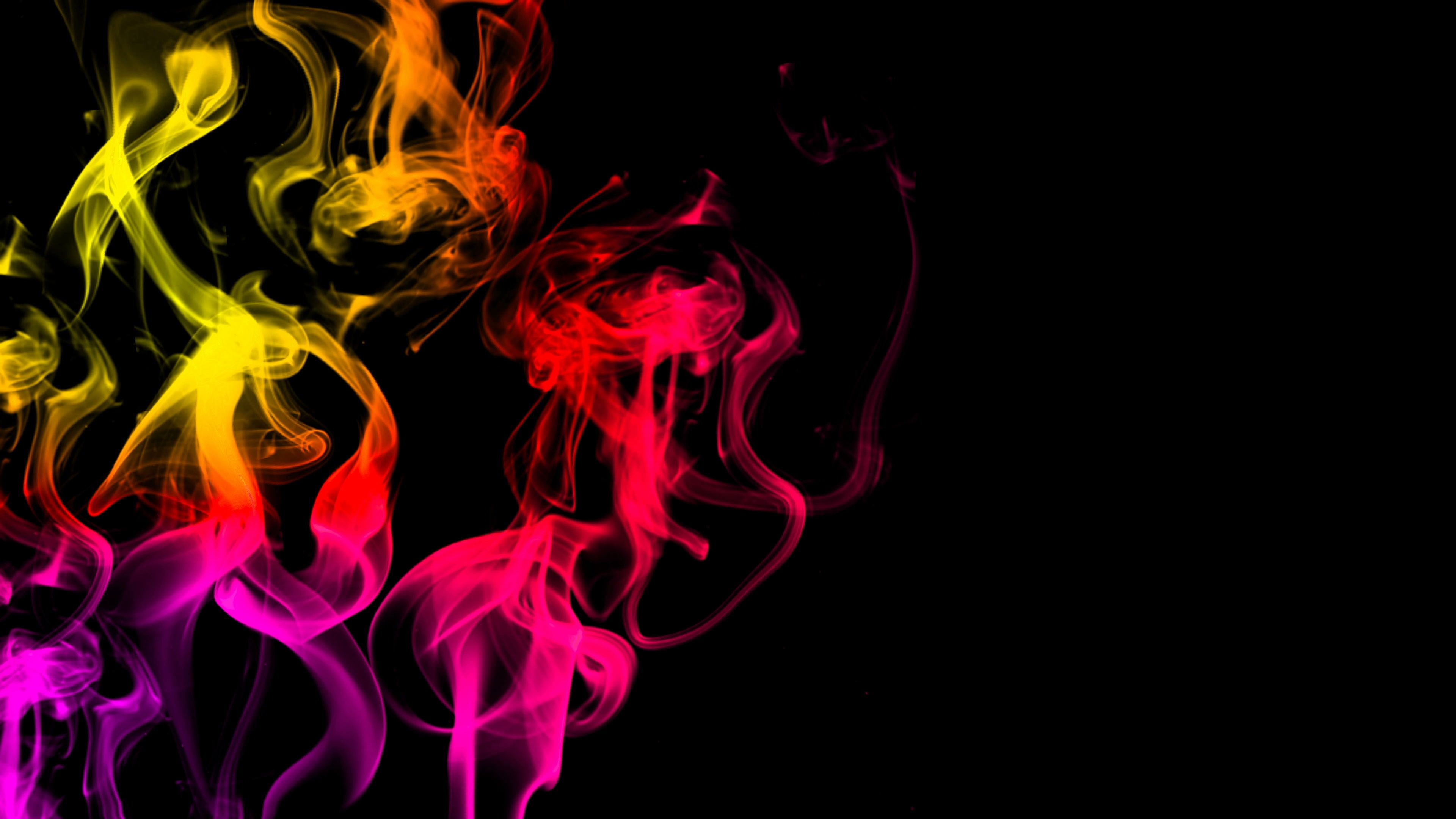 Cg Animation Of Colorful Smoke On A Black Background Juicy And Fresh Color 3d Stock Footage Smoke Black Colorful Cg Colored Smoke Black Backgrounds Color