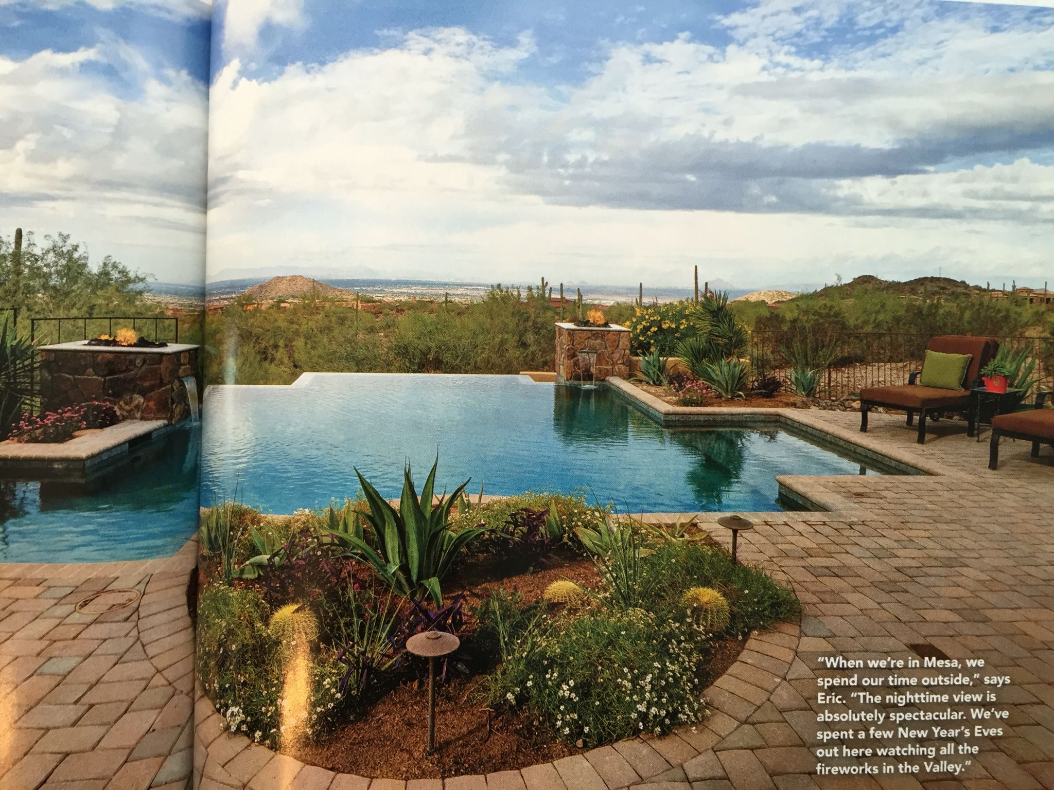 very nice pool and view layout phoenix home u0026 garden magazine