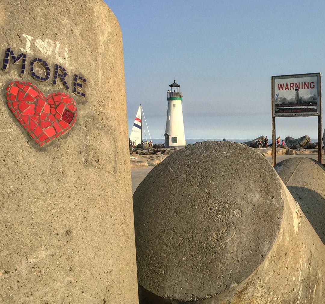 Santa Cruz CA: No Santa Cruz I love YOU more  by hitandruntravel