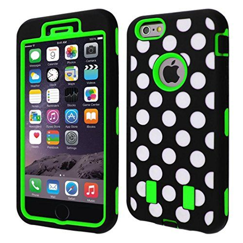 iPhone 6 Case,Bridgegen(TM) Dual Layer Hybrid Hard and Soft rubber Protective Case [Non-Slip] Cover [Prime Series] for Apple iPhone 6 [4.7 inch](2014) - Polka Dots Green BRIDGEGEN http://www.amazon.com/dp/B00NBH7FFC/ref=cm_sw_r_pi_dp_QbIRvb1VJ50YW