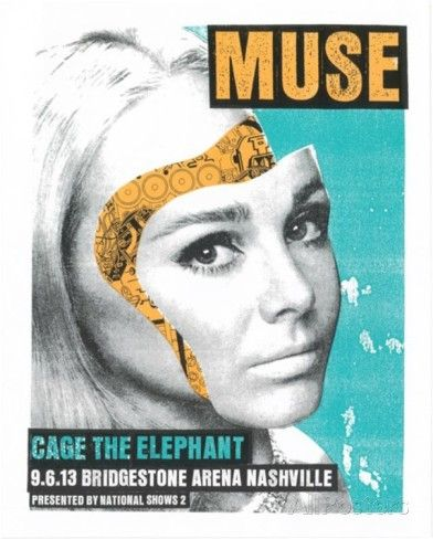 Muse - Cage the Elephant Serigraph