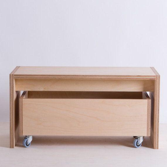 Cnc Bendmak Agent New Zealand: Bench And Storage Box On Wheels Birch Plywood By