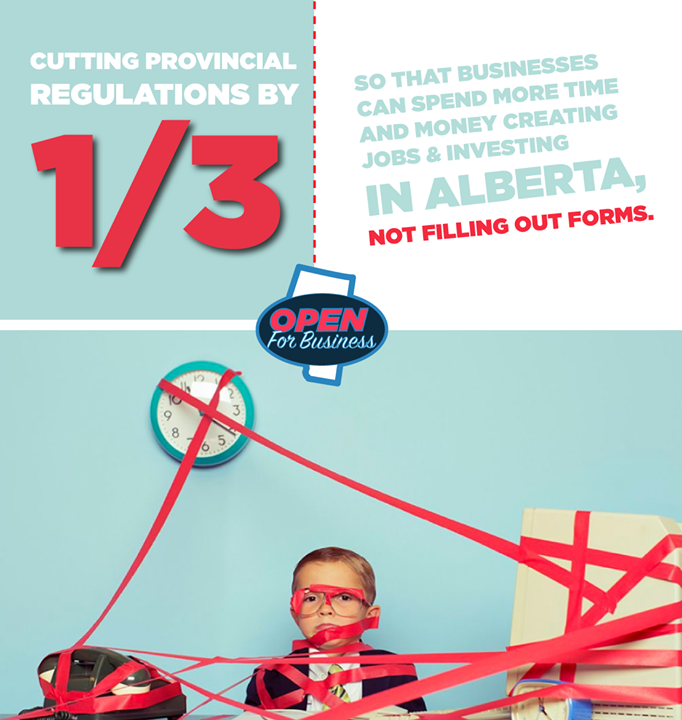 Government red tape is making doing business in Alberta too