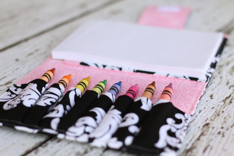 damask crayon wallet crayon organizer crayon roll includes