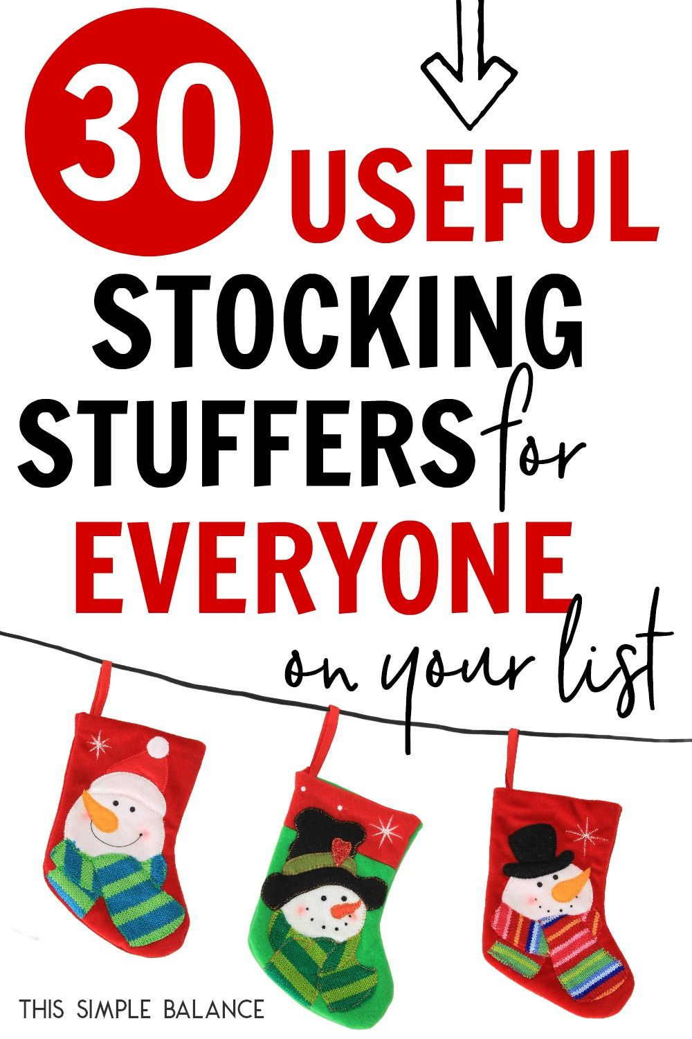 30+ Useful Stocking Stuffers for Everyone on Your List | This Simple Balance