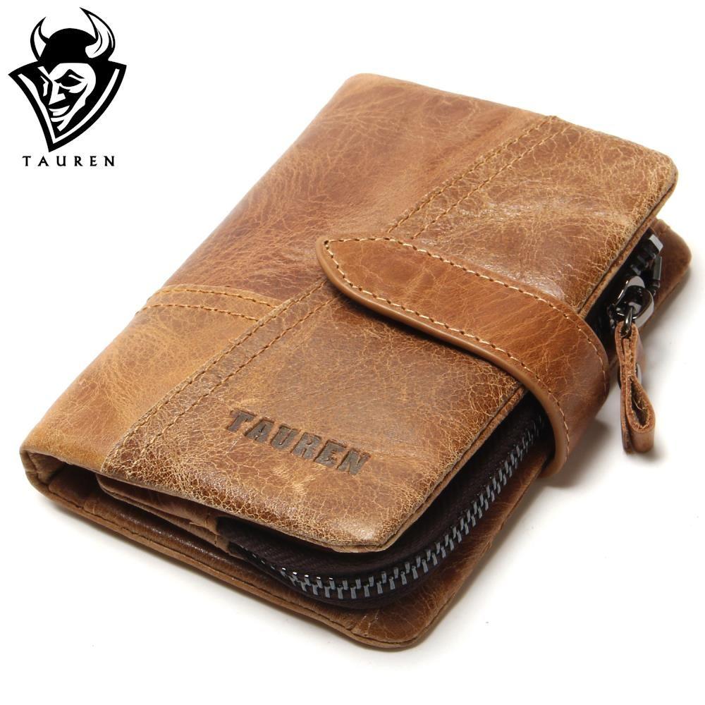 Tauren Retro Luxury Genuine Leather Women Men Wallets High Quality ...