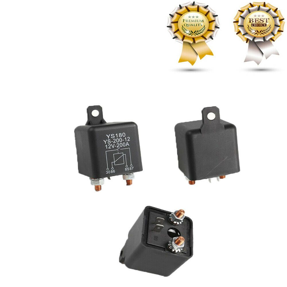 Details about 2pcs Heavy Duty 12VDC relay 200A Automotive
