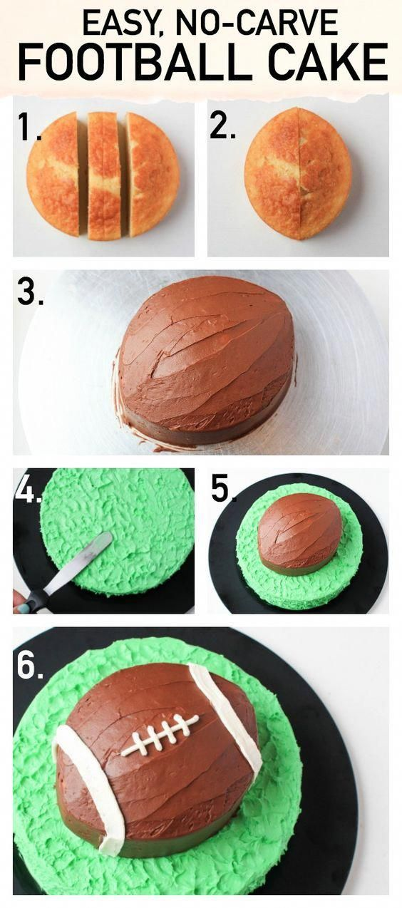 Score Big With a Seriously Simple Football Cake #footballpartyfood