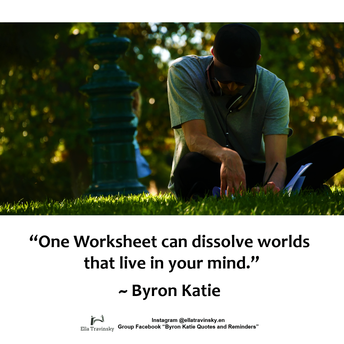 One Worksheet Can Dissolve Worlds That Live In Your Mind