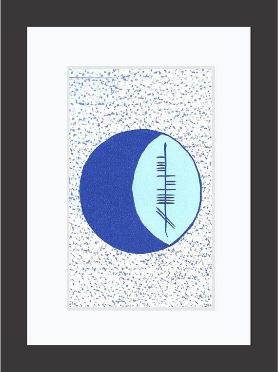 Moon Gealach Ogham 5x7 Print Etsy 5x7 Print Ogham Ogham Alphabet