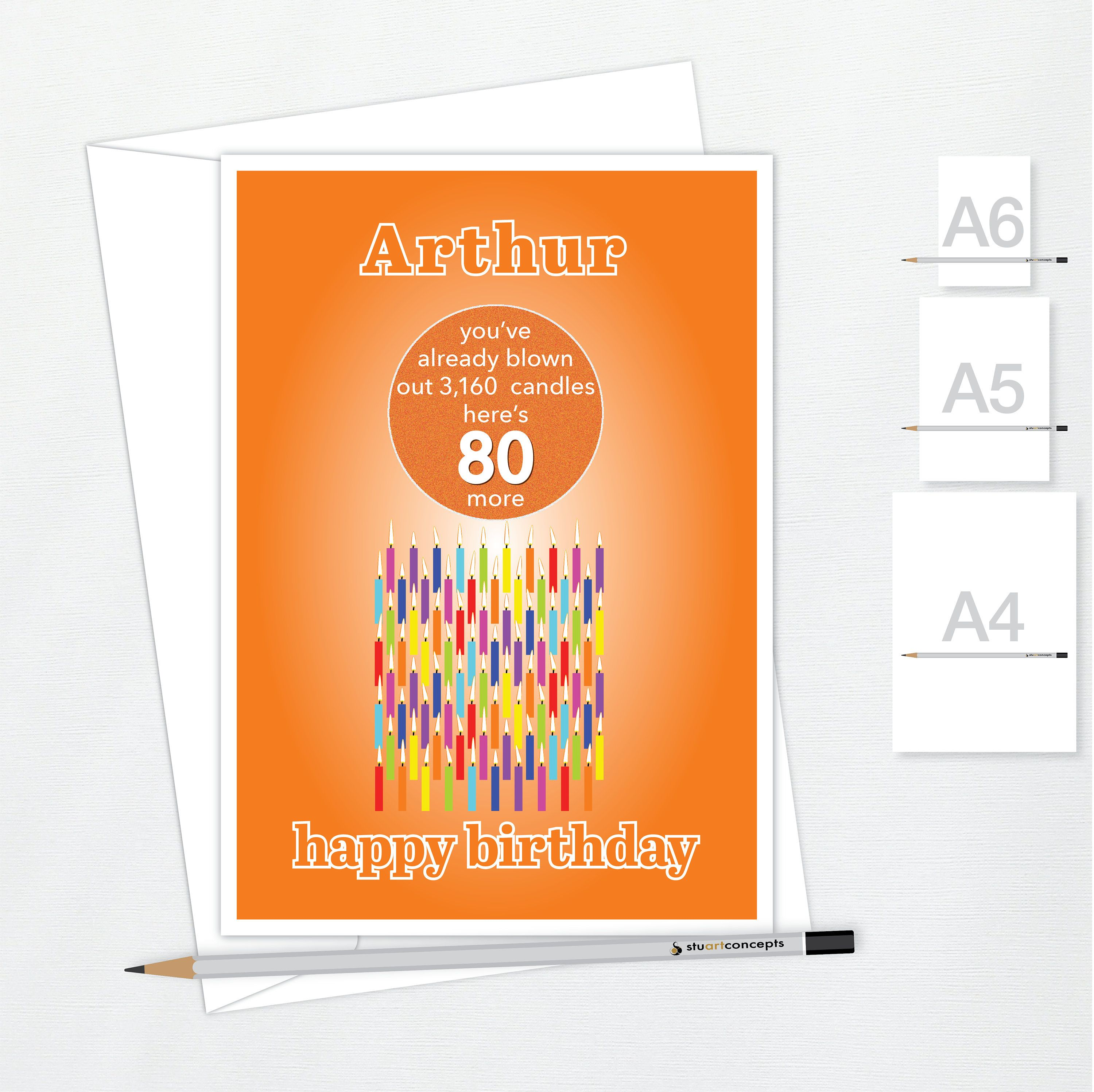 Funny 80th Birthday Card For Him For Her Edit Name 80 Bday Etsy Birthday Cards For Him 80th Birthday Cards Birthday Cards