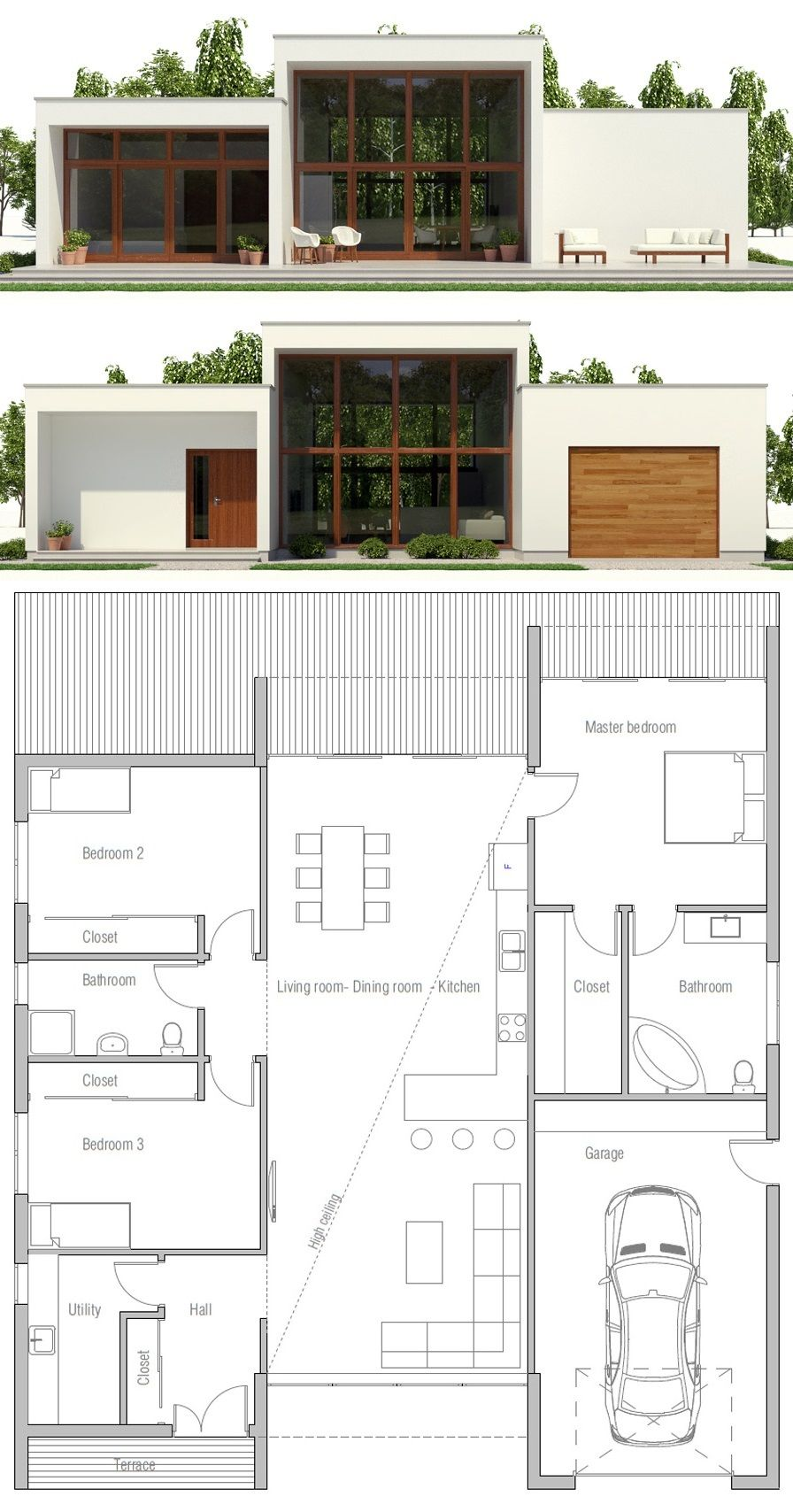 Modern Contemporary Home Plan Minimalist House Design Modern Minimalist House Sims House Plans