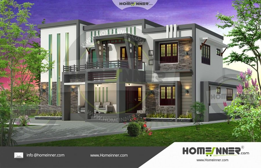 Sq ft 4 bedroom indian home design 2917 sq ft 4 bedroom indian home design malvernweather Images