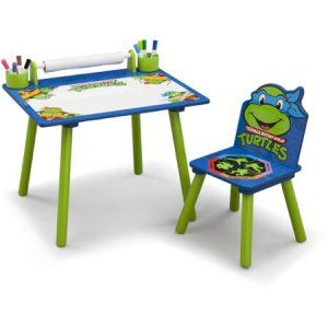 nickelodeon teenage mutant ninja turtles art desk bookshelf easel
