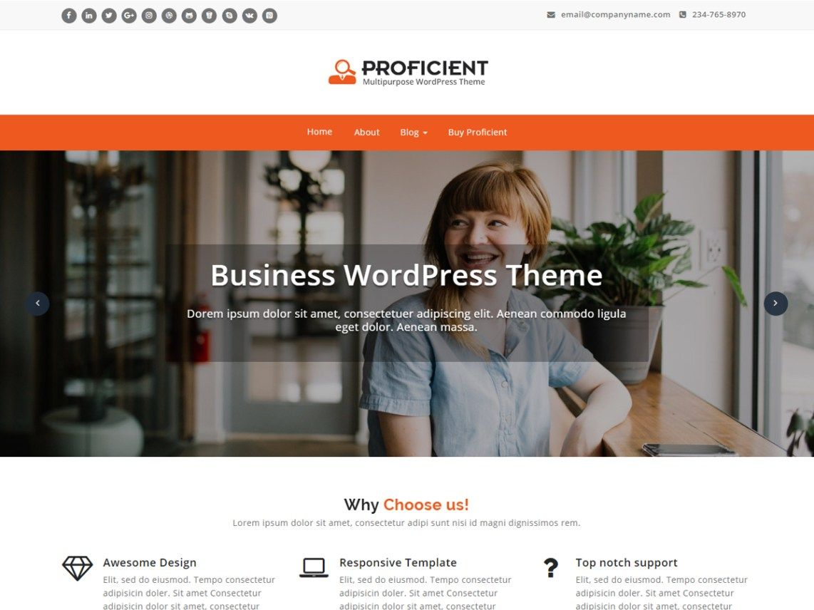 Download Free Proficient Wordpress theme | Wordpress and Template