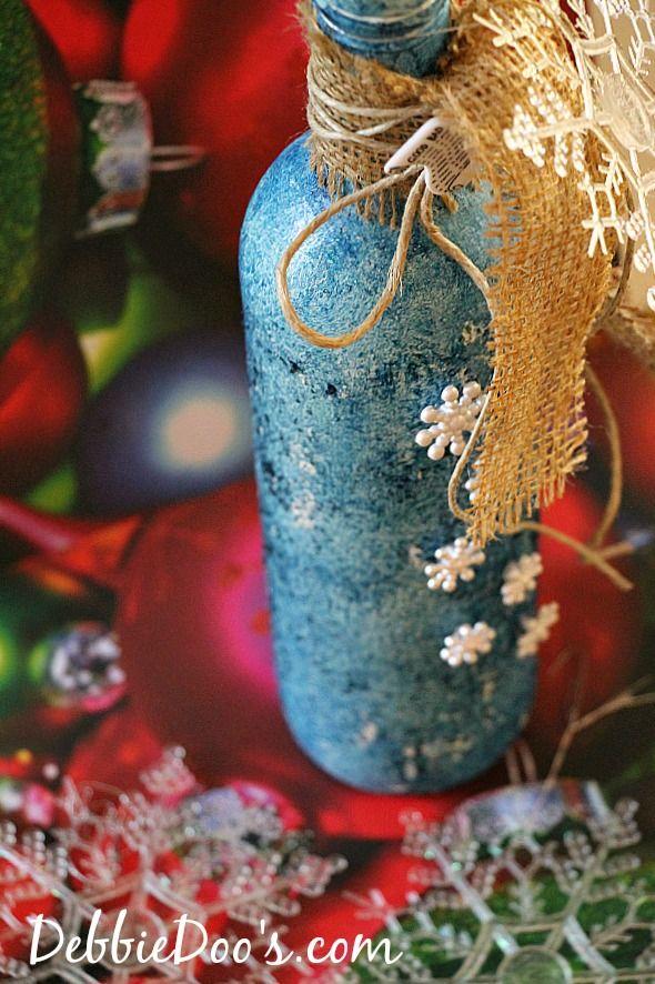 Bottle Christmas Decoration Recycled Wine Bottle Christmas Craft Idea  Recycled Wine Bottles