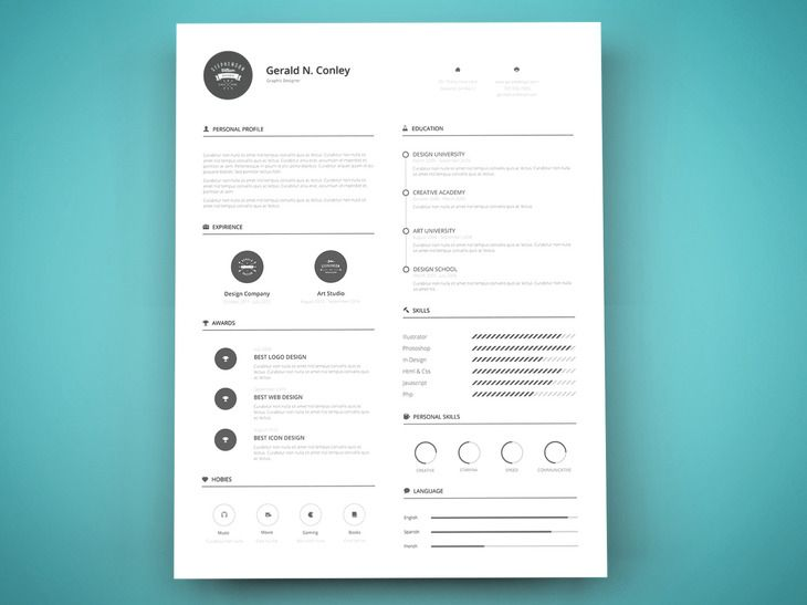 Print Ready Resume Template  Mb  GraphberryCom  Career