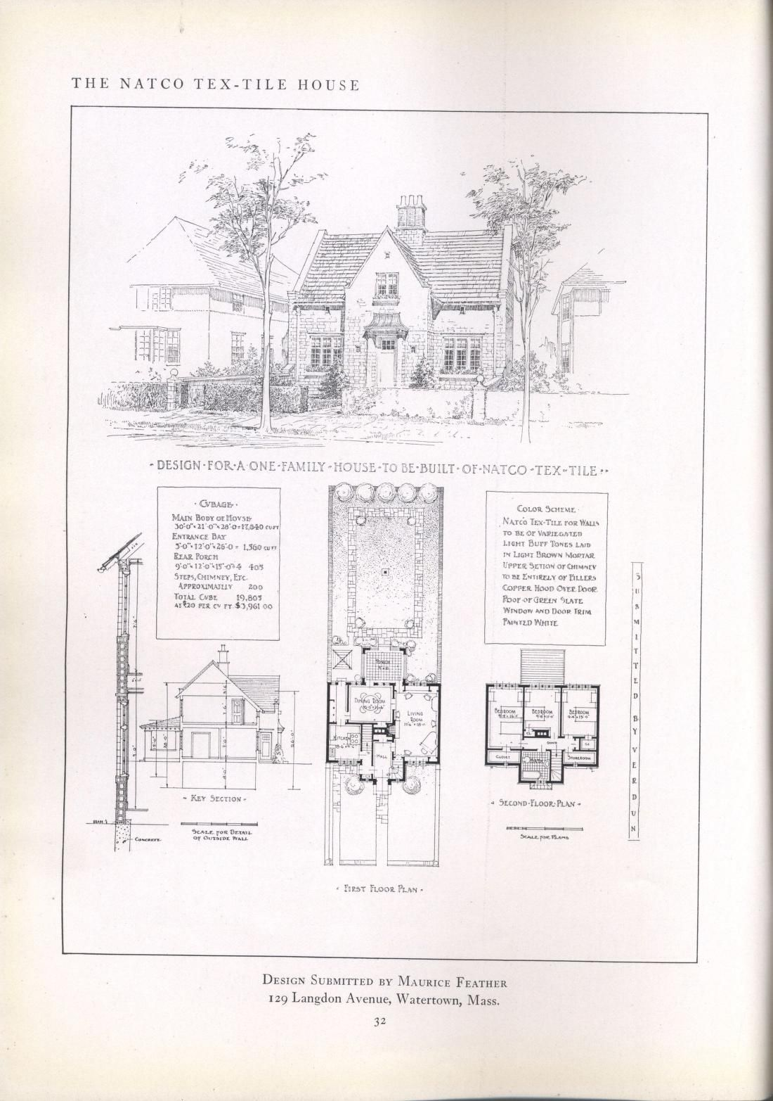 The Natco Tex Tile House Architectural Prints Architecture Drawings Different House Styles