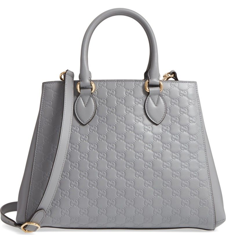 4c40a3bac60 Main Image - Gucci Large Top Handle Signature Soft Leather Tote ...