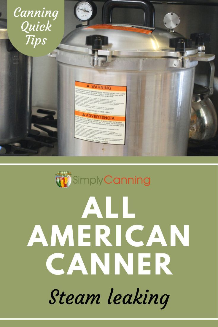 All american canner why is my canner leaking steam in