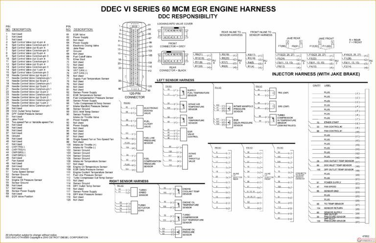 ddec ii wiring diagram 14 ddec 4 ecm wiring diagram car cable and detroit diesel series  14 ddec 4 ecm wiring diagram car cable