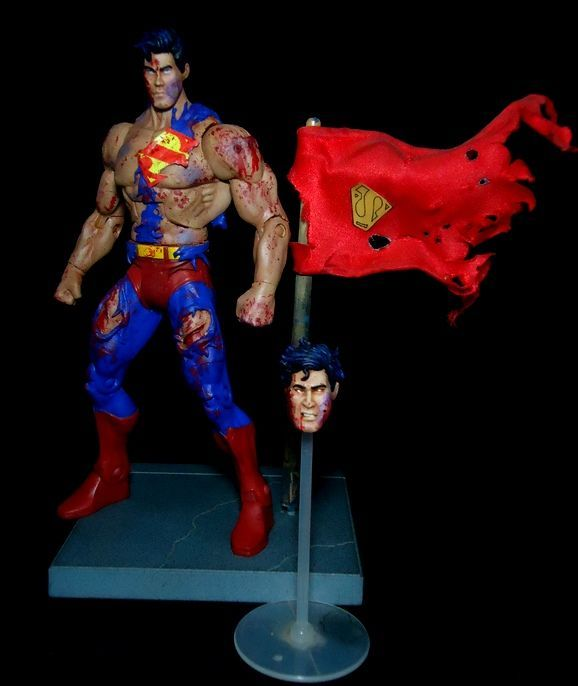 Superman Doomsday Ver 2 Dc Universe Custom Action Figure