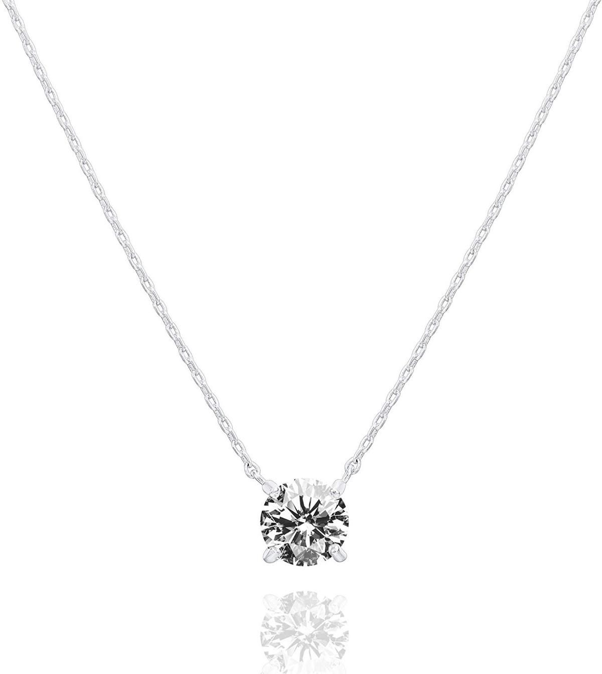 DiamondJewelryNY Choker Necklace 4 Pc Clear Cubic Zircon Adjustable Choker Neck
