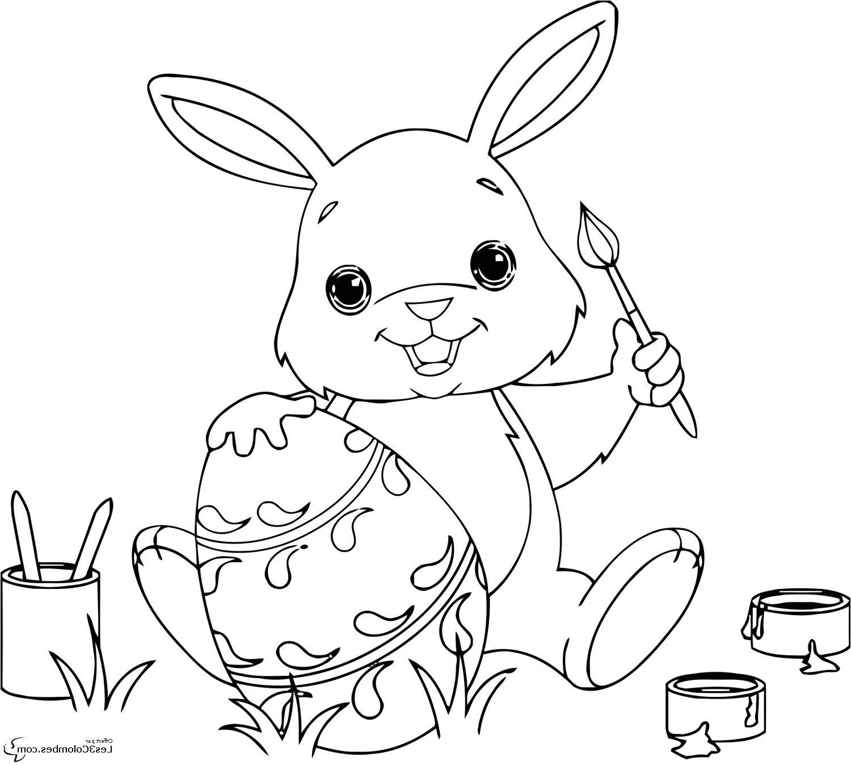 coloriage de lapin trop mignon a imprimer #dessinlapin in ...