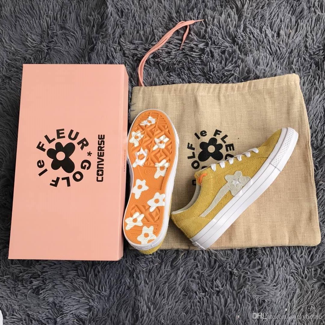 d02fd735f419 2018 Outdoor Shoes Con Verse One Star X Golf Le Fleur Ttc Outdoor Boost  Neighborhood Casual Shoes Running Shoes Yellow Follower Sneakers Shoe Shops  Brown ...