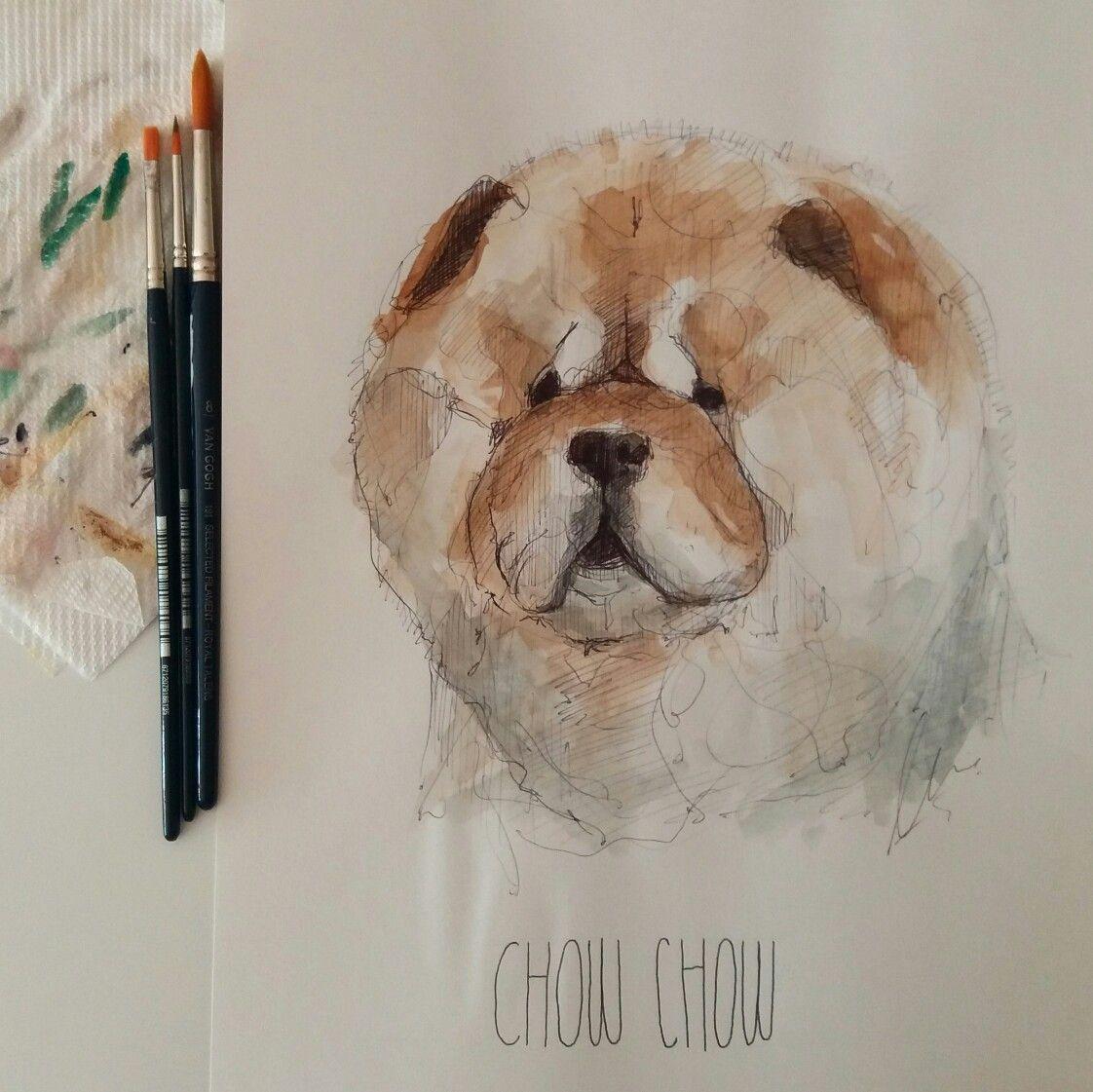 #chowchow #watercolour