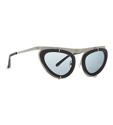 ERDEM EDM3 Angular cat eye sunglasses (Apricot acetate